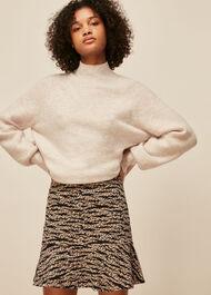 Tiger Leopard Flippy Skirt