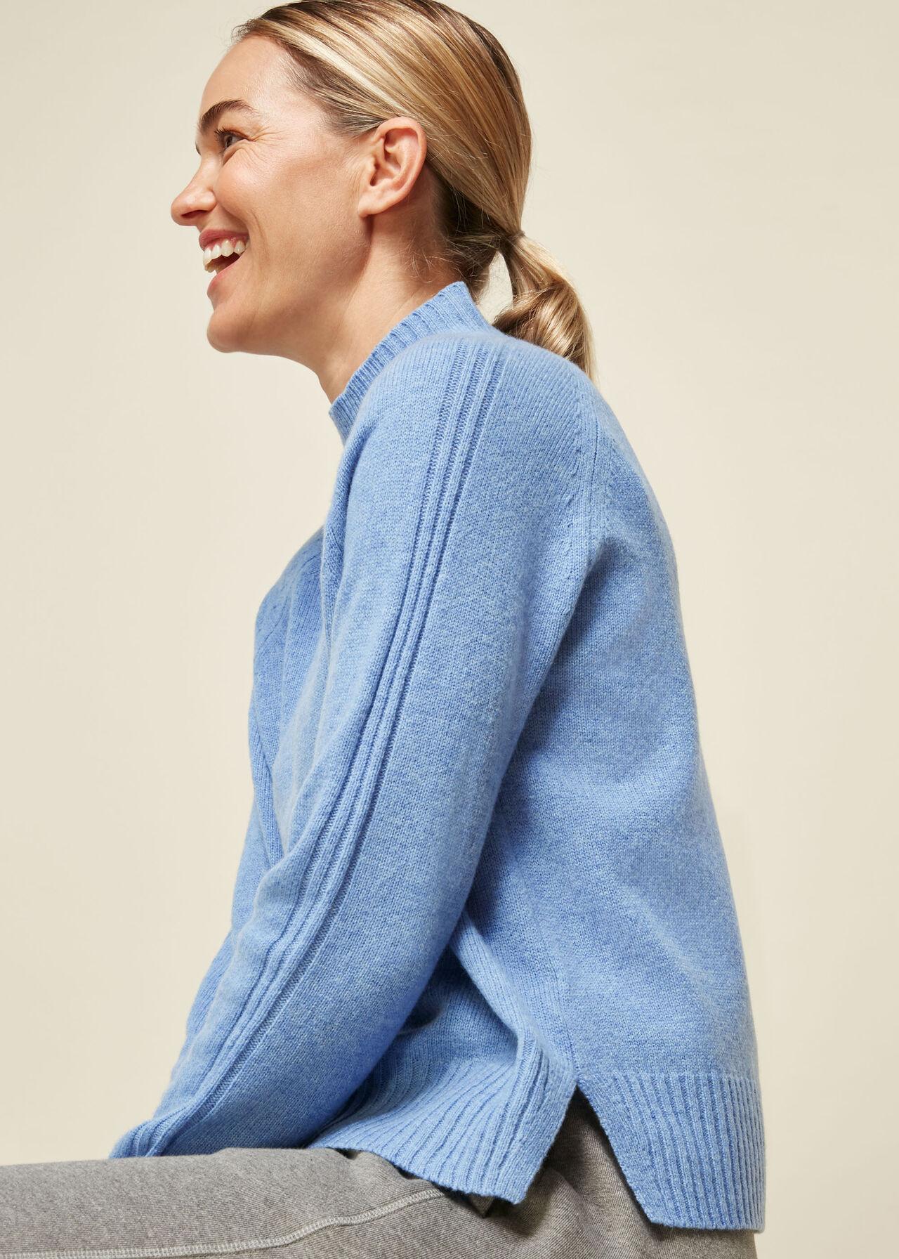 Funnel Neck Merino Wool Knit