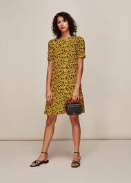 Trailing Daisy Georgina Dress Yellow/Multi