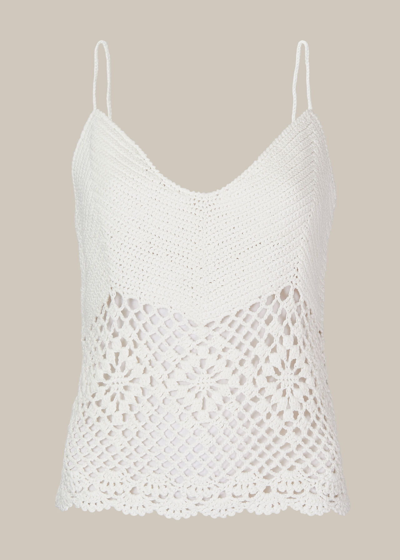 Strappy Crochet Knit Top