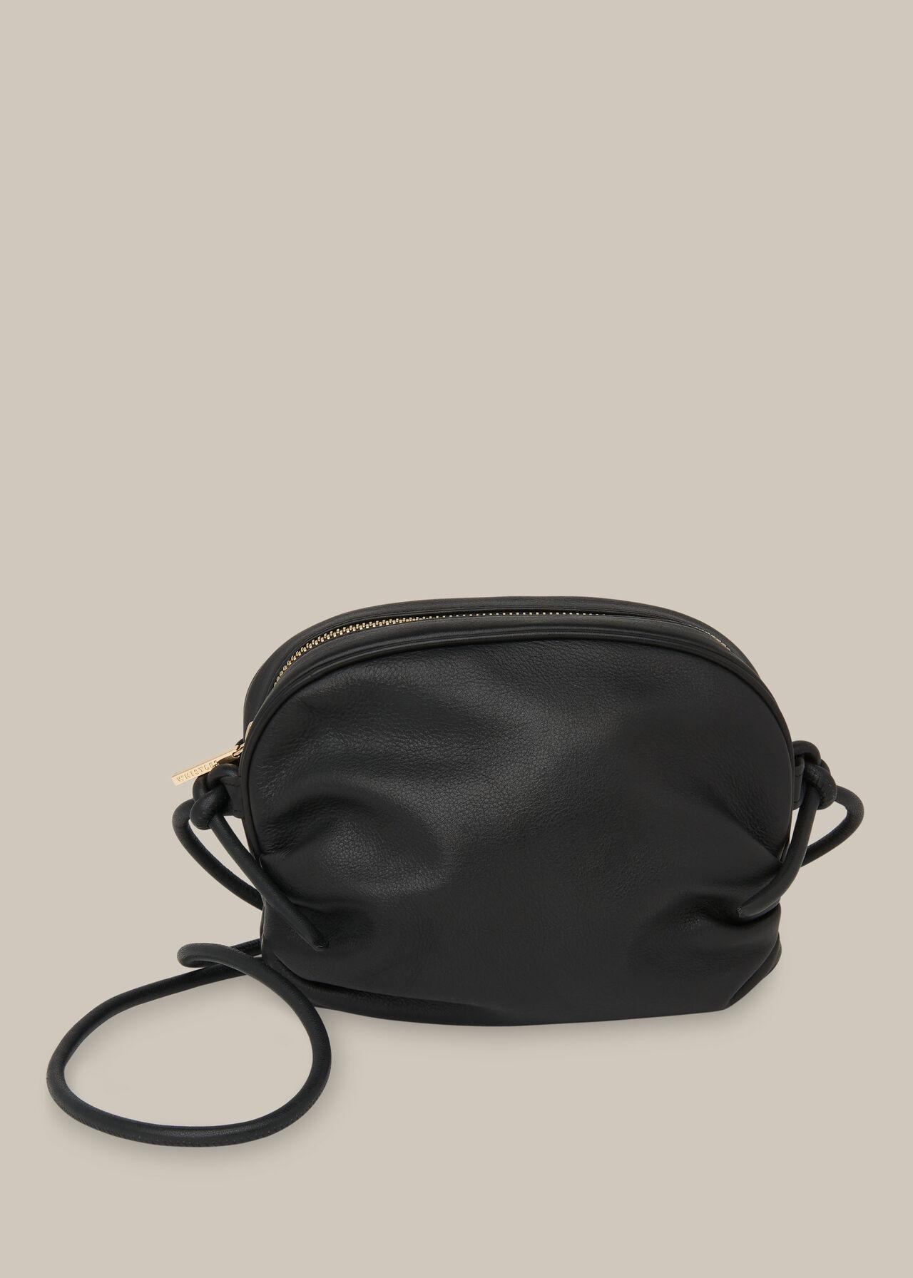 Riya Gathered Bag Black