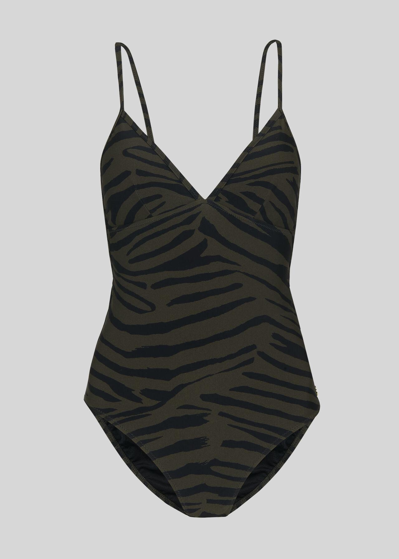 Zebra Print Swimsuit Multicolour