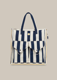 LF Markey Stripe Shopper Bag