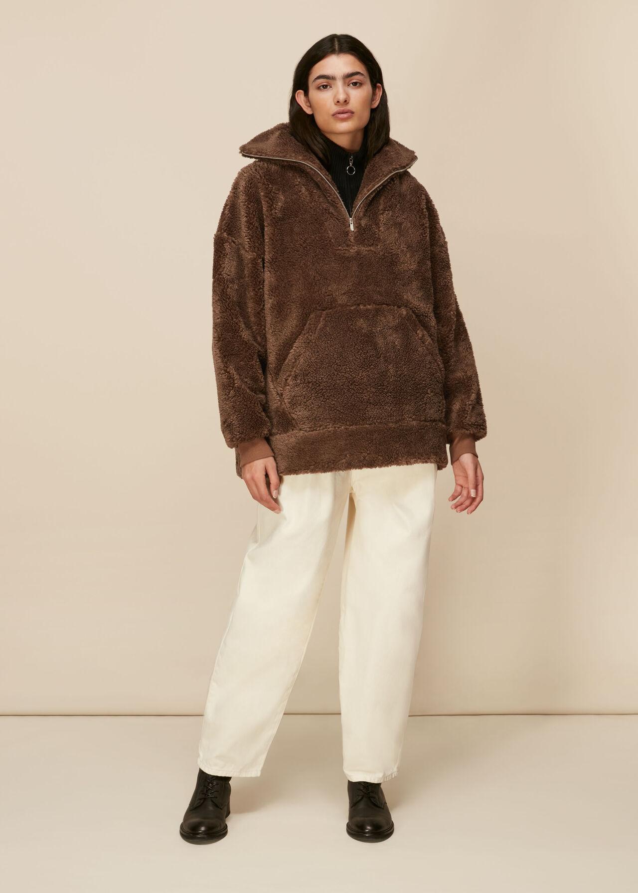 Borg Half Zip Sweatshirt
