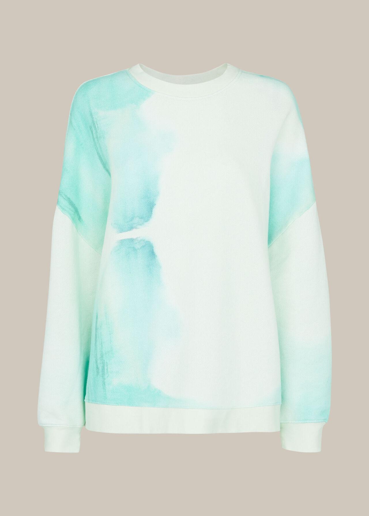 Tie Dye Cotton Sweatshirt