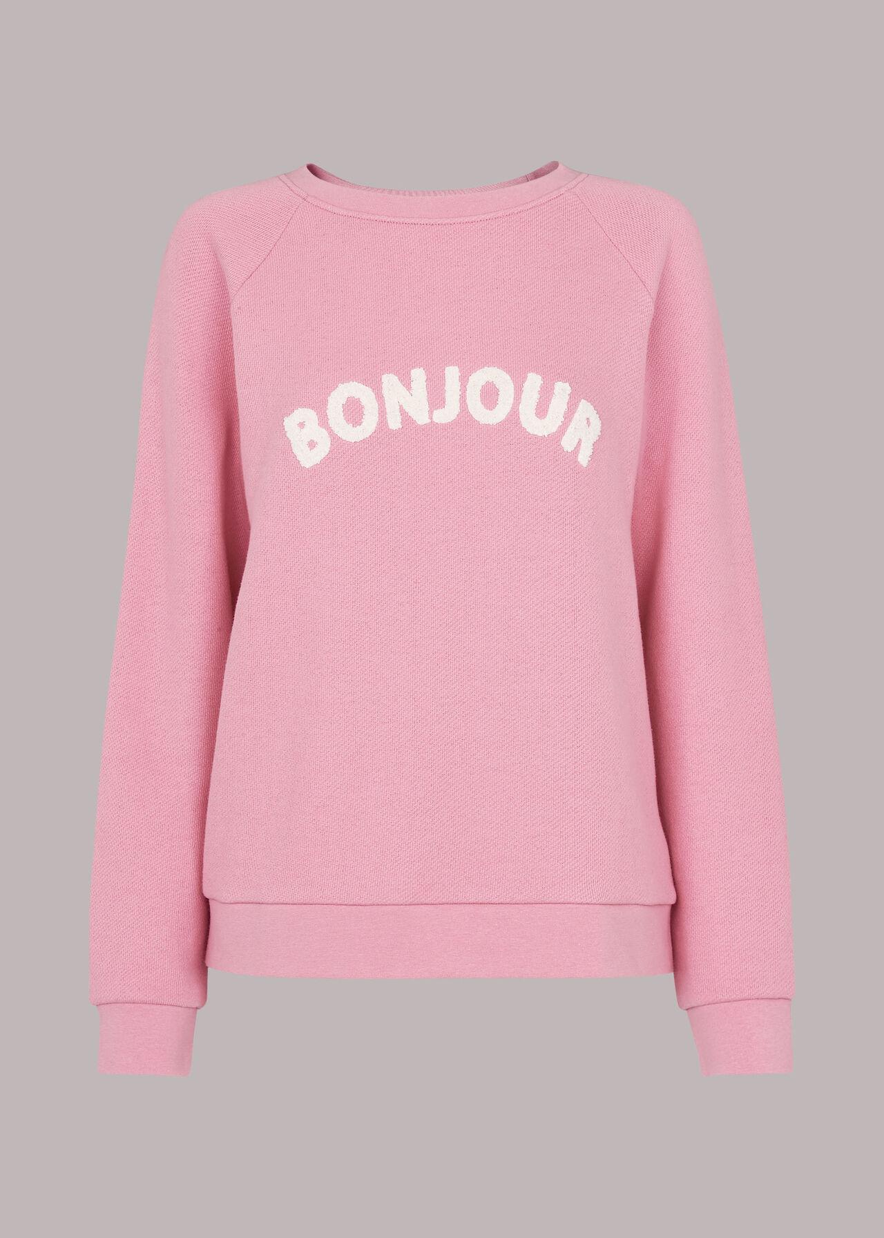 Bonjour Logo Sweatshirt Pink