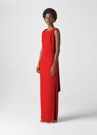 Tie Back Maxi Dress Red