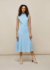 Penny Belted Dress Pale Blue