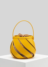 Whistles x Mlouye Helix Bag Yellow