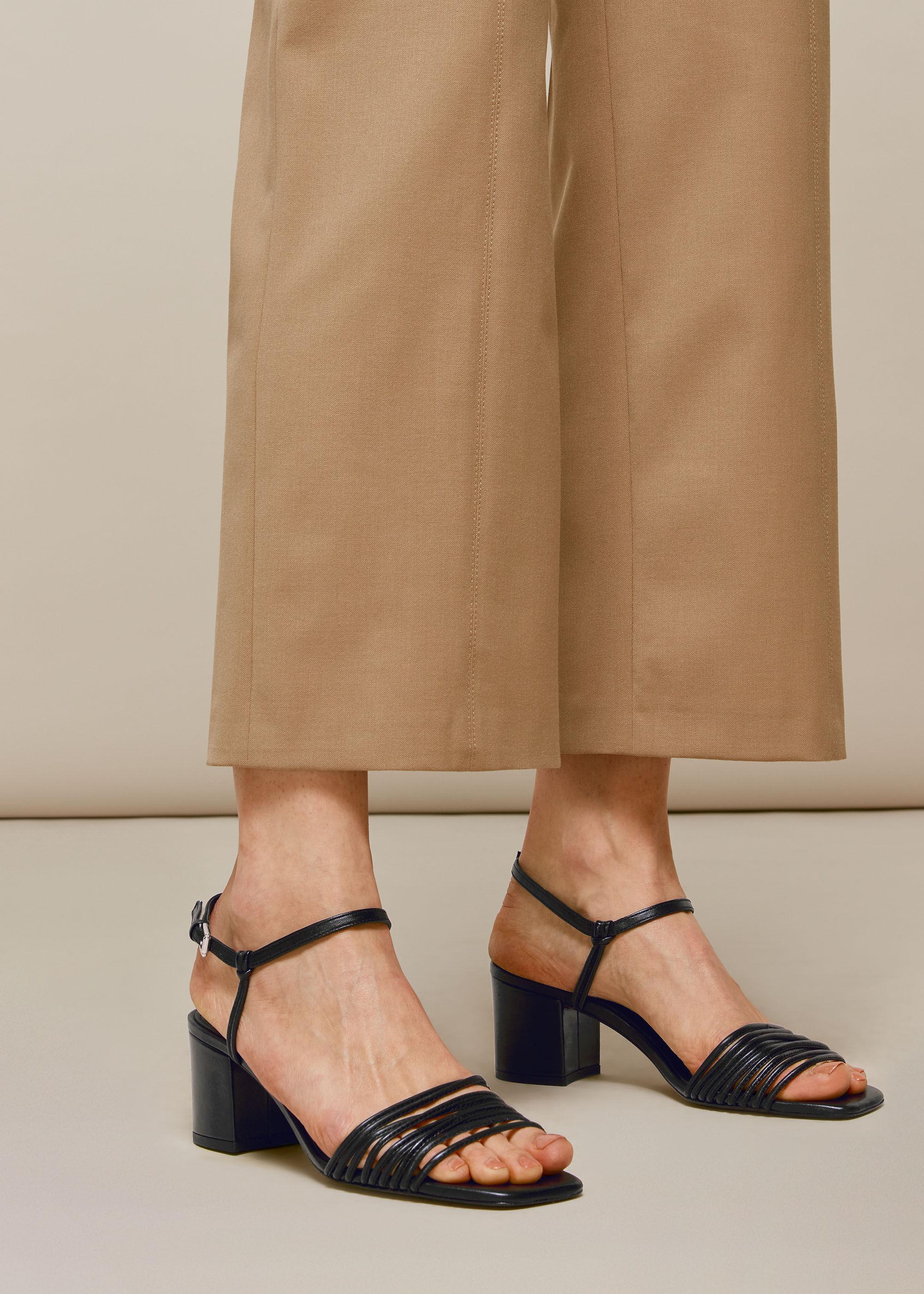 Black Hana Multi Strap Sandal