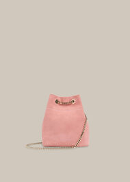 Ivy Chain Drawstring Bag Pink