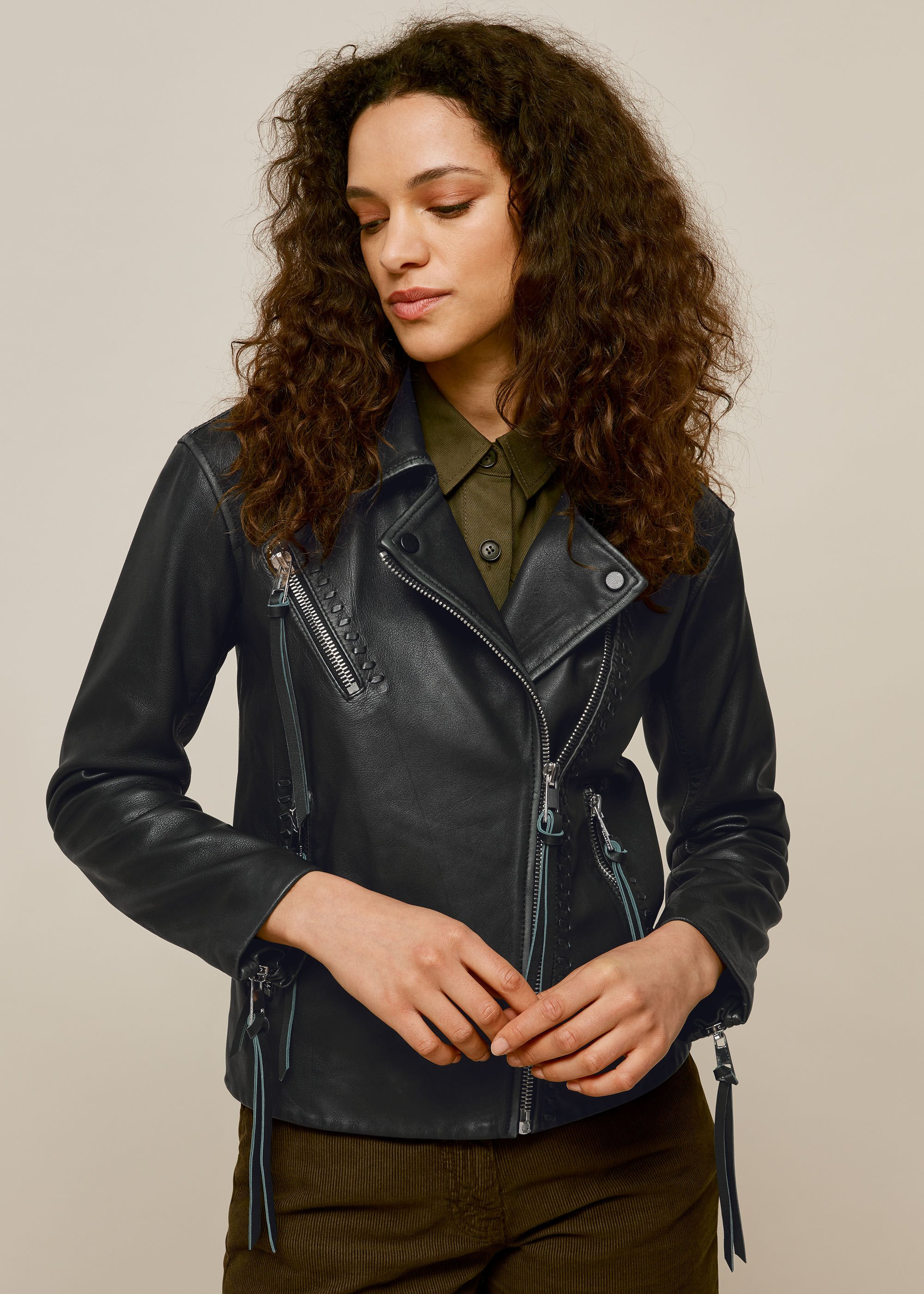 ABelal Genuine Leather Jacket Black