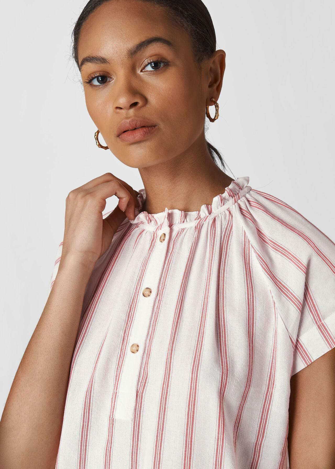 Shira Stripe Top White/Multi