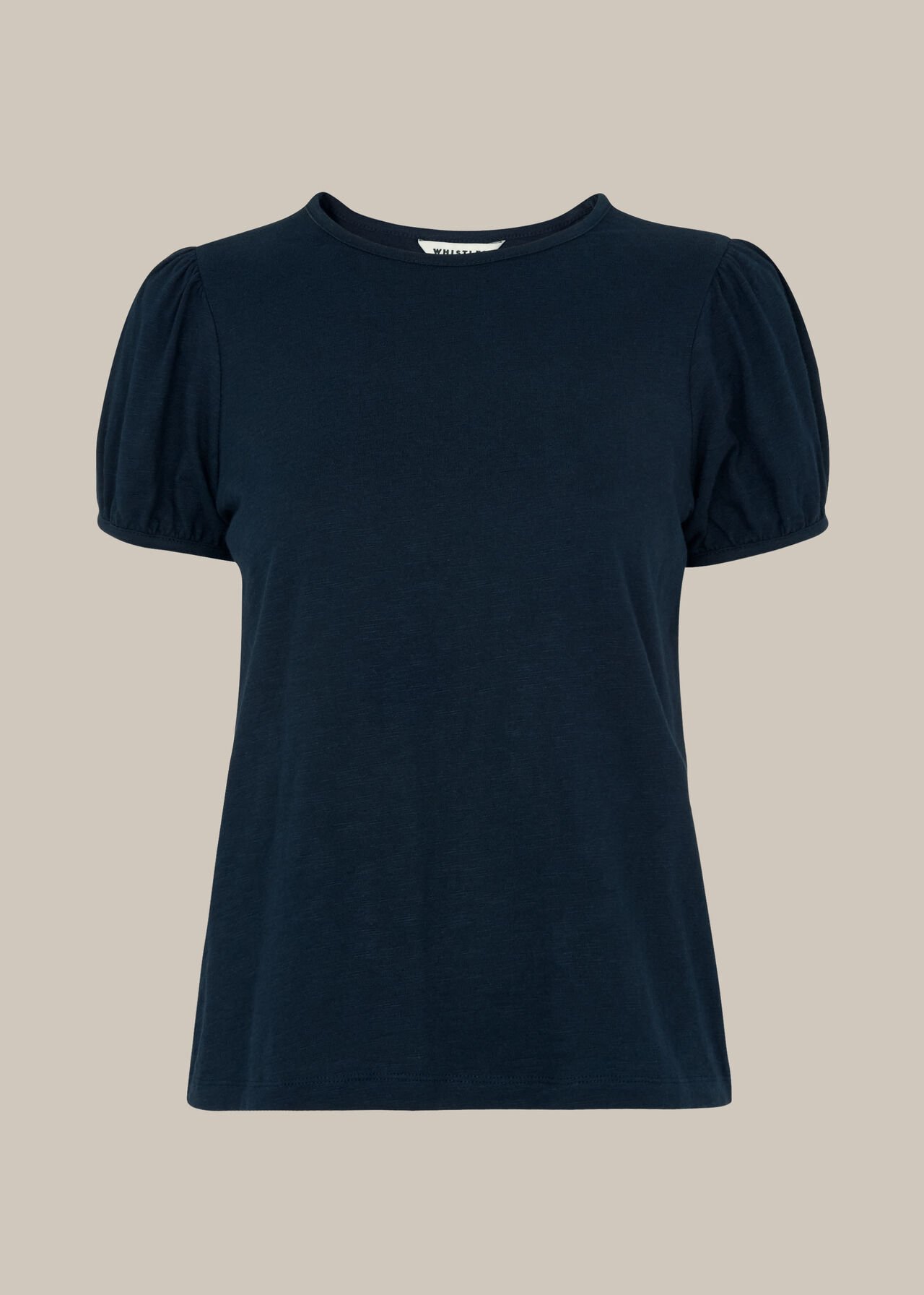 Puff Sleeve TShirt Navy