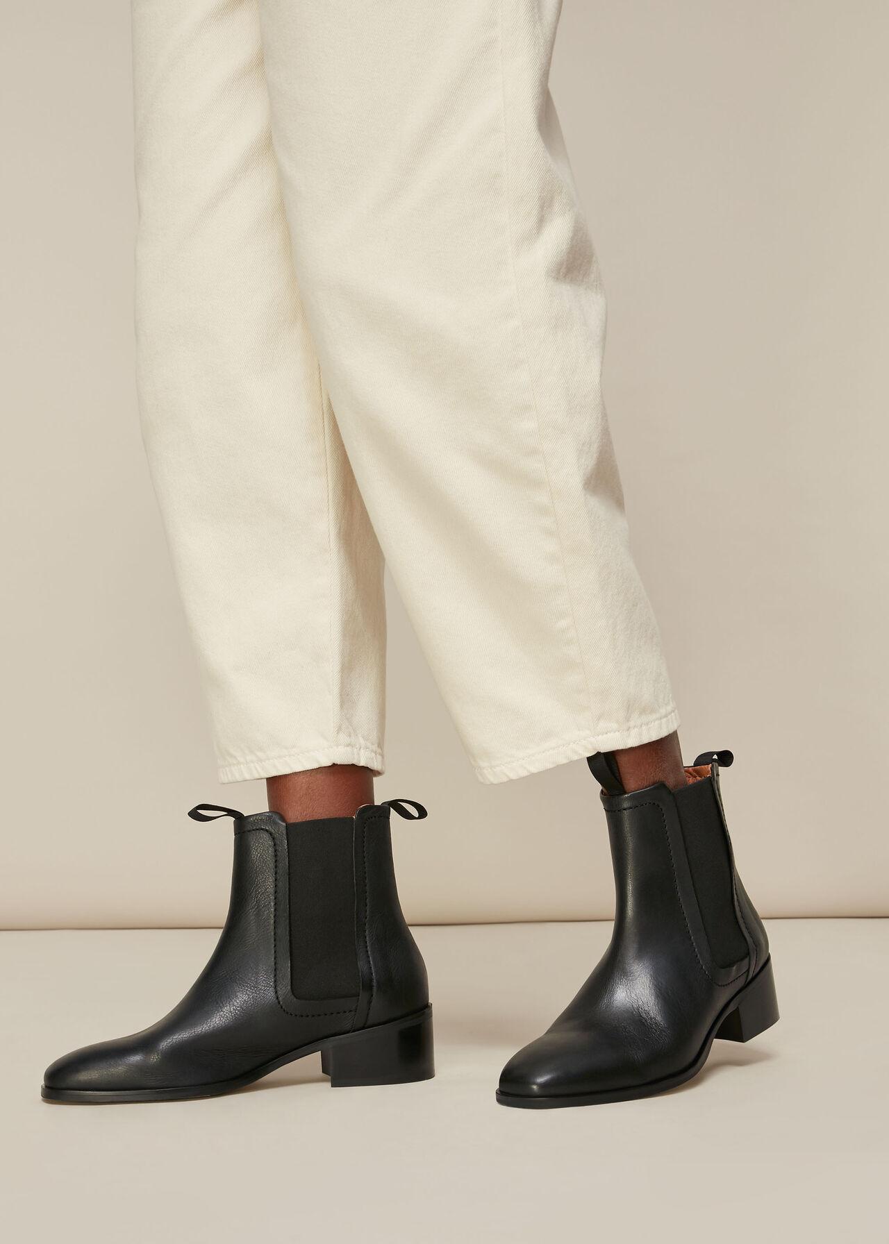 Fernbrook Leather Chelsea Boot Black