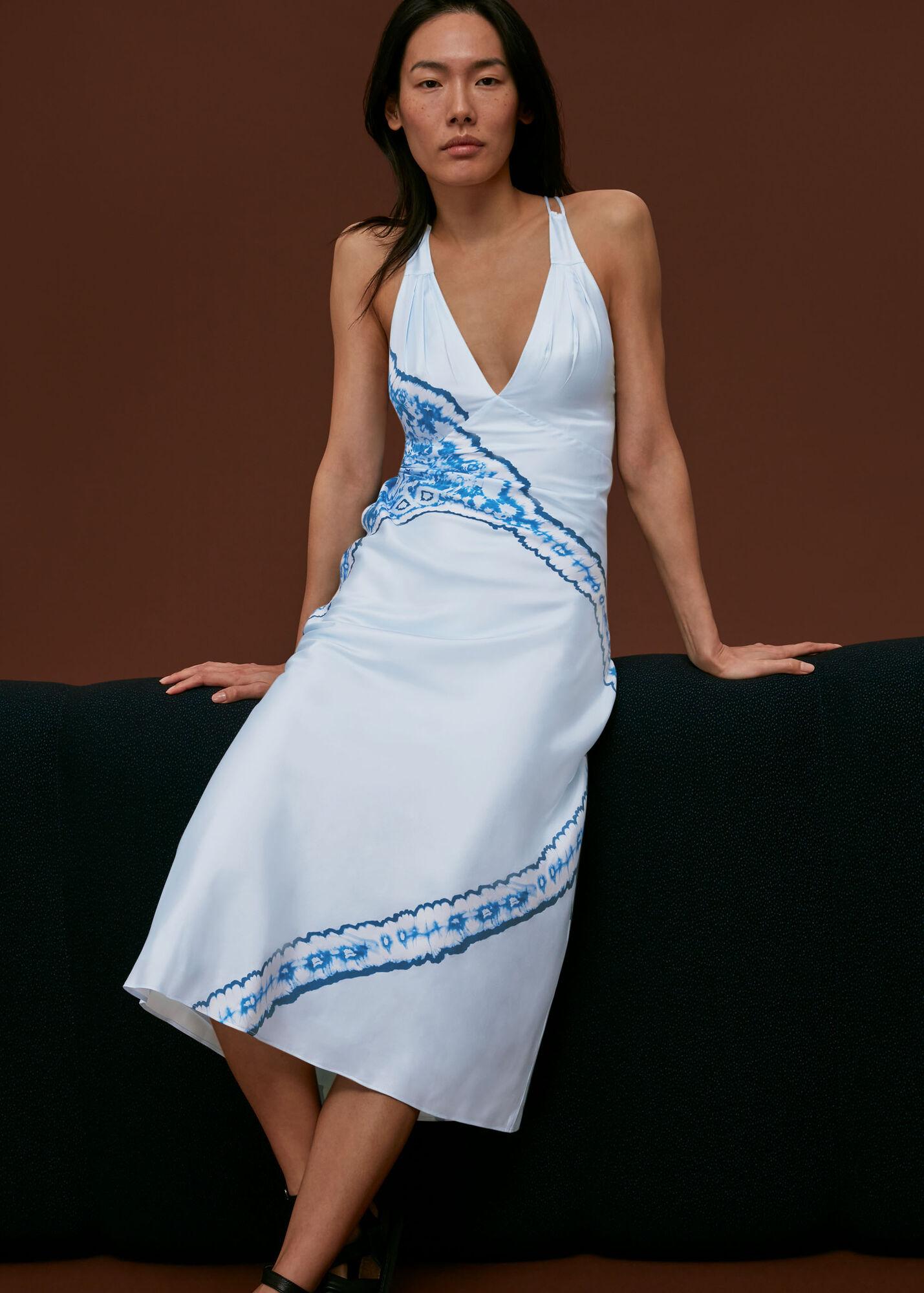 Silk Tie Dye Bias Dress