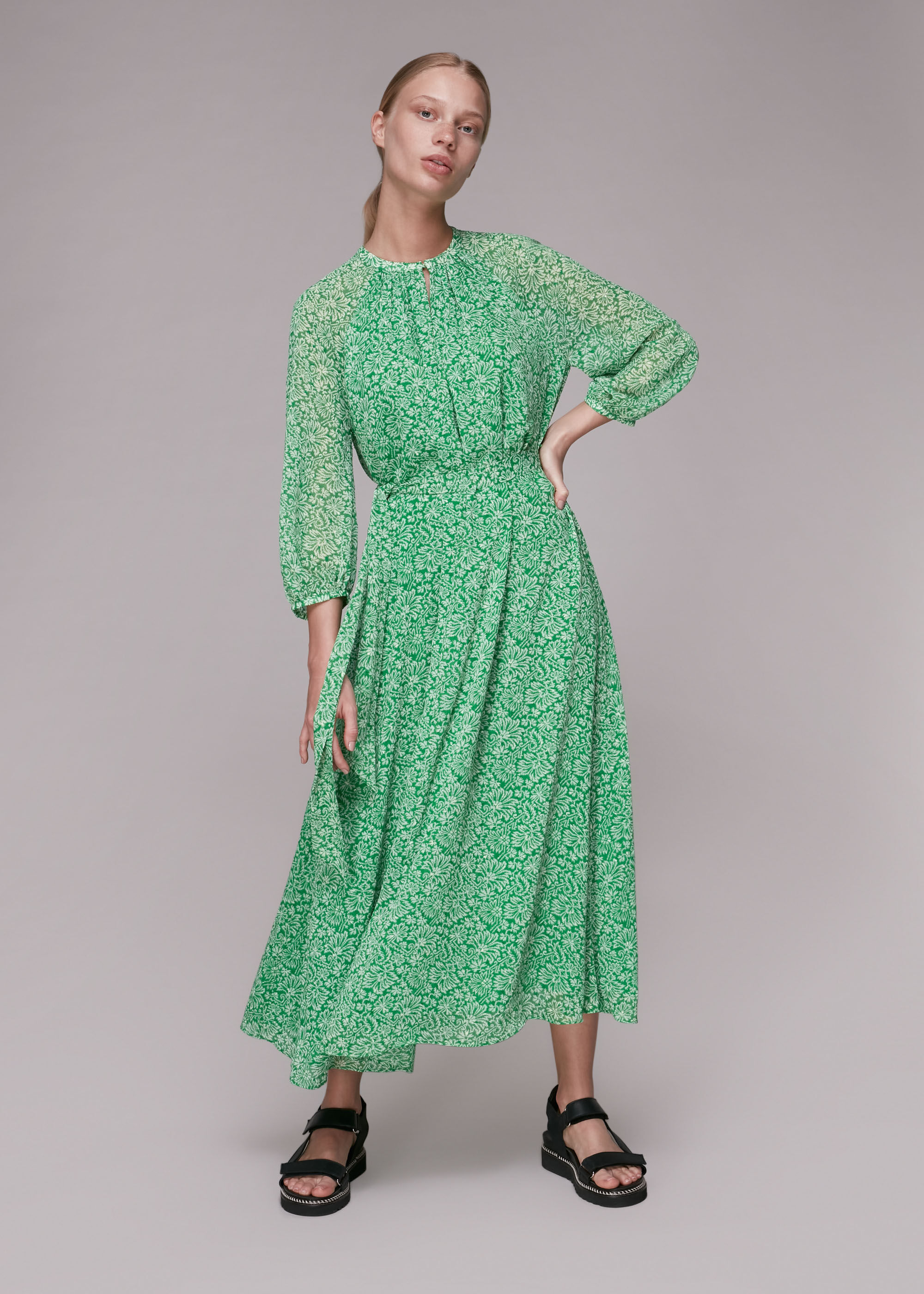 Whistles Women Indo Floral Trapeze Dress