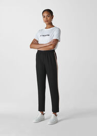 Elyse Side Stripe Trouser Black/Multi
