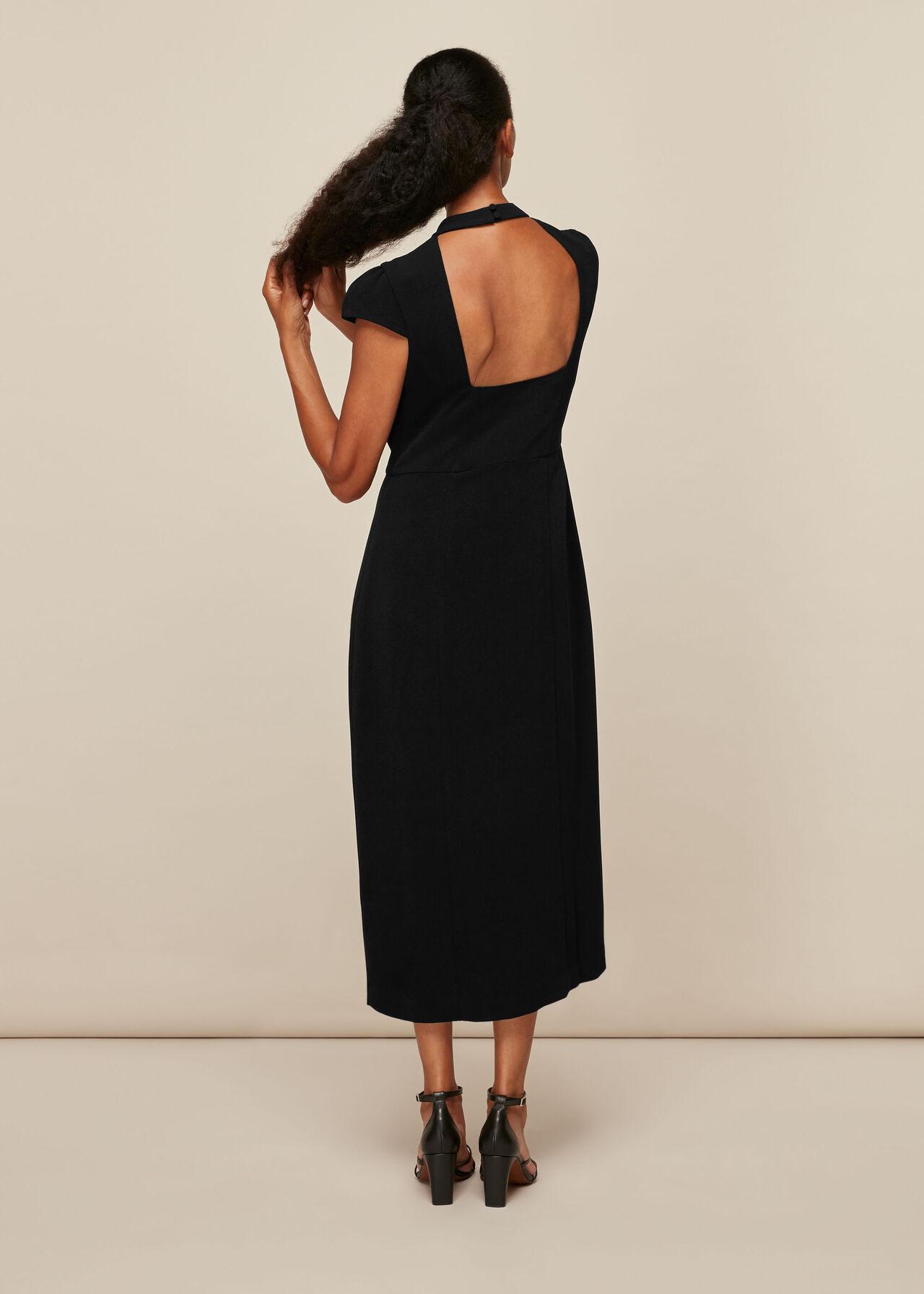 High Neck Textured Dress