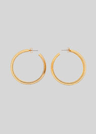 Large Studded Hoop Gold/Multi