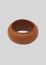 Leather Bangle Tan
