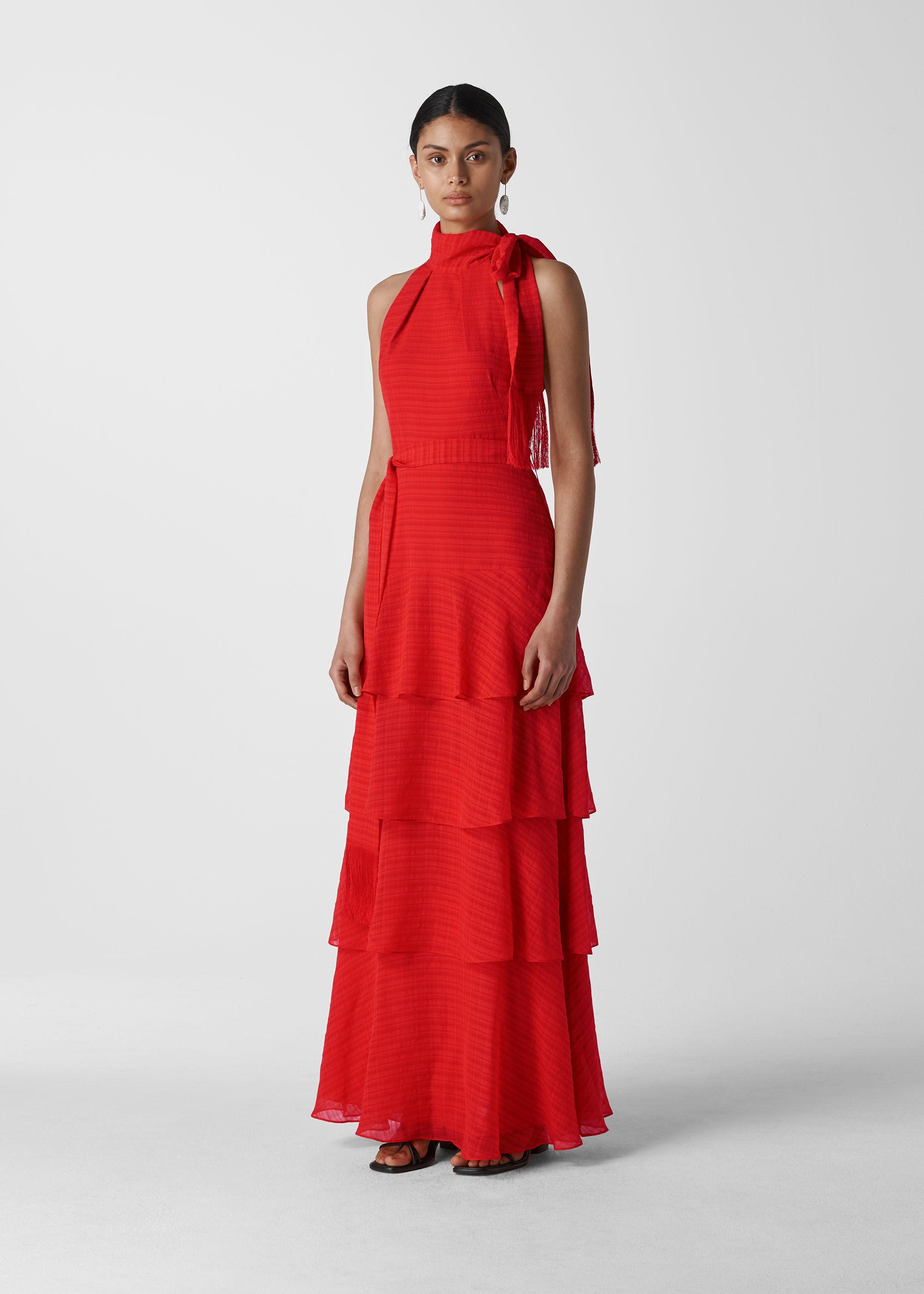 Whistles Women Marigold Tiered Maxi Dress