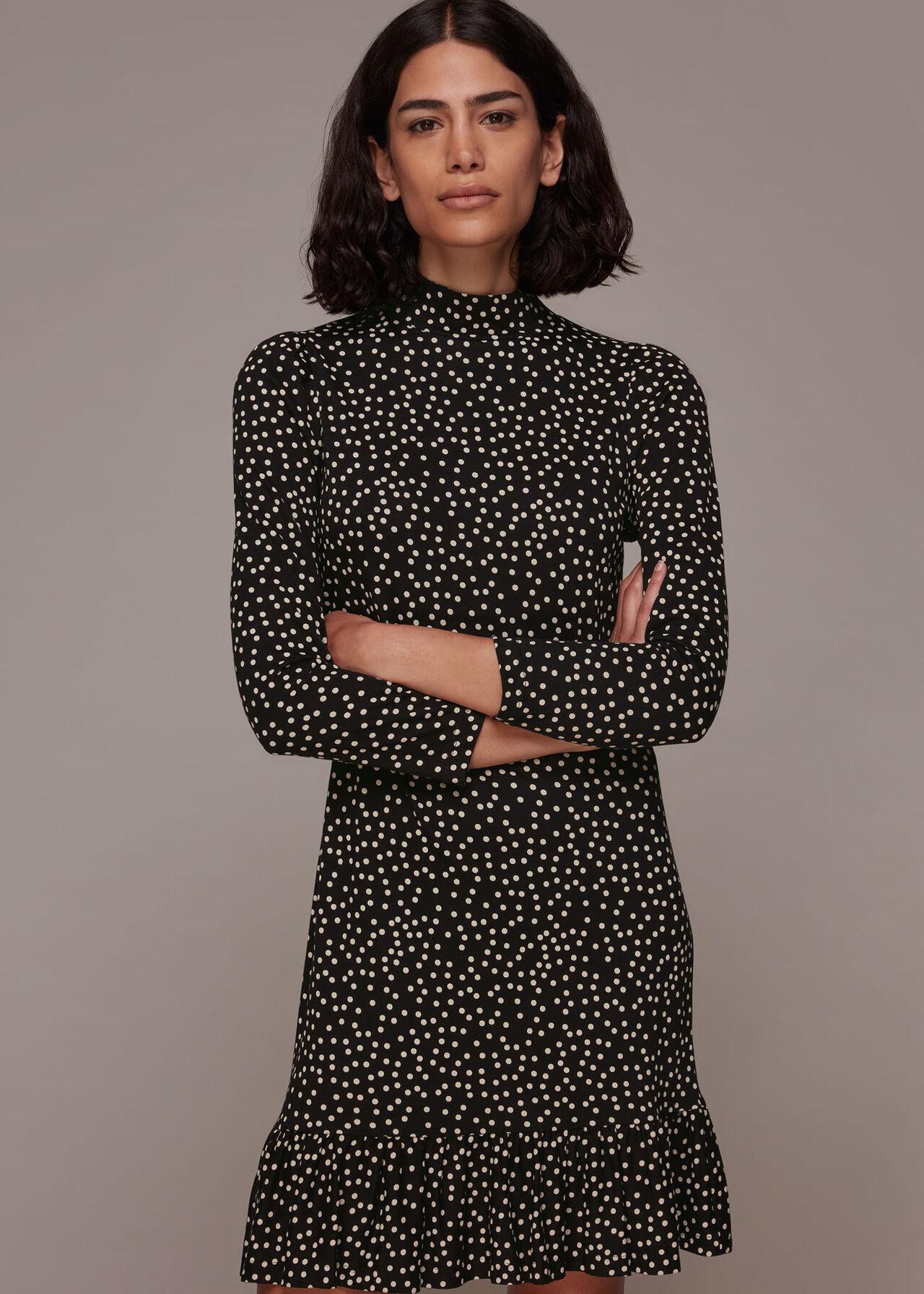 Irregular Spot Jersey Dress