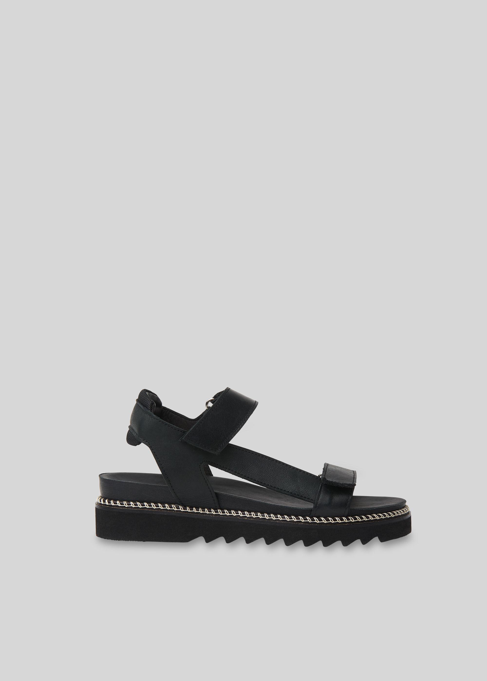 Black Noah Sporty Velcro Sandal