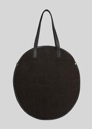 Devon Round Jute Bag Black
