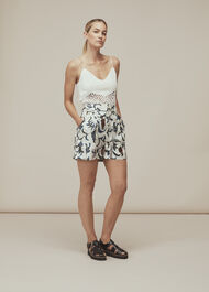 Subrina Printed Silk Short