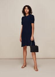 Georgina Zip Dress Navy