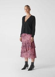Wild Cat Print Skirt Pink/Multi