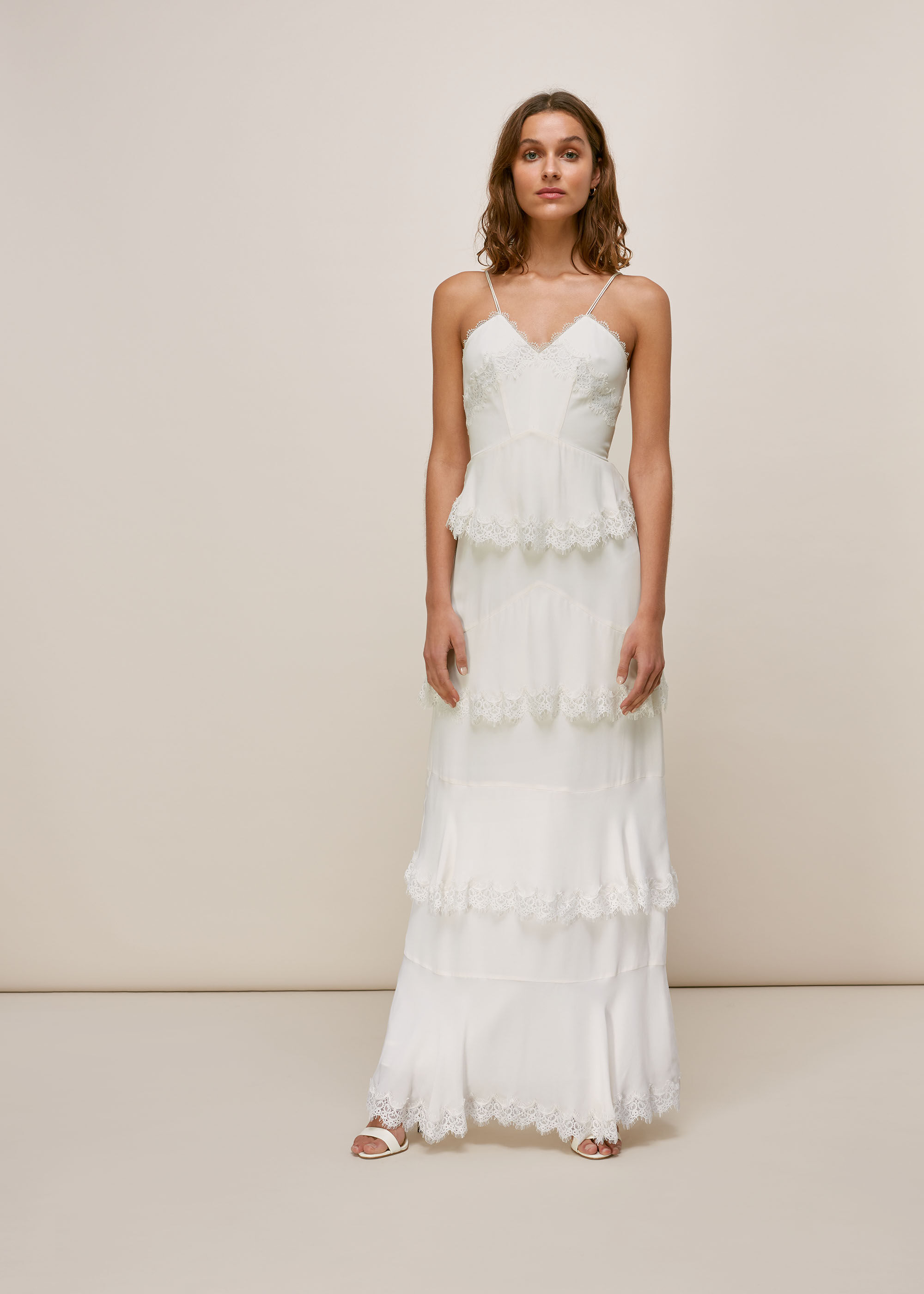Whistles Women Isla Tiered Wedding Dress
