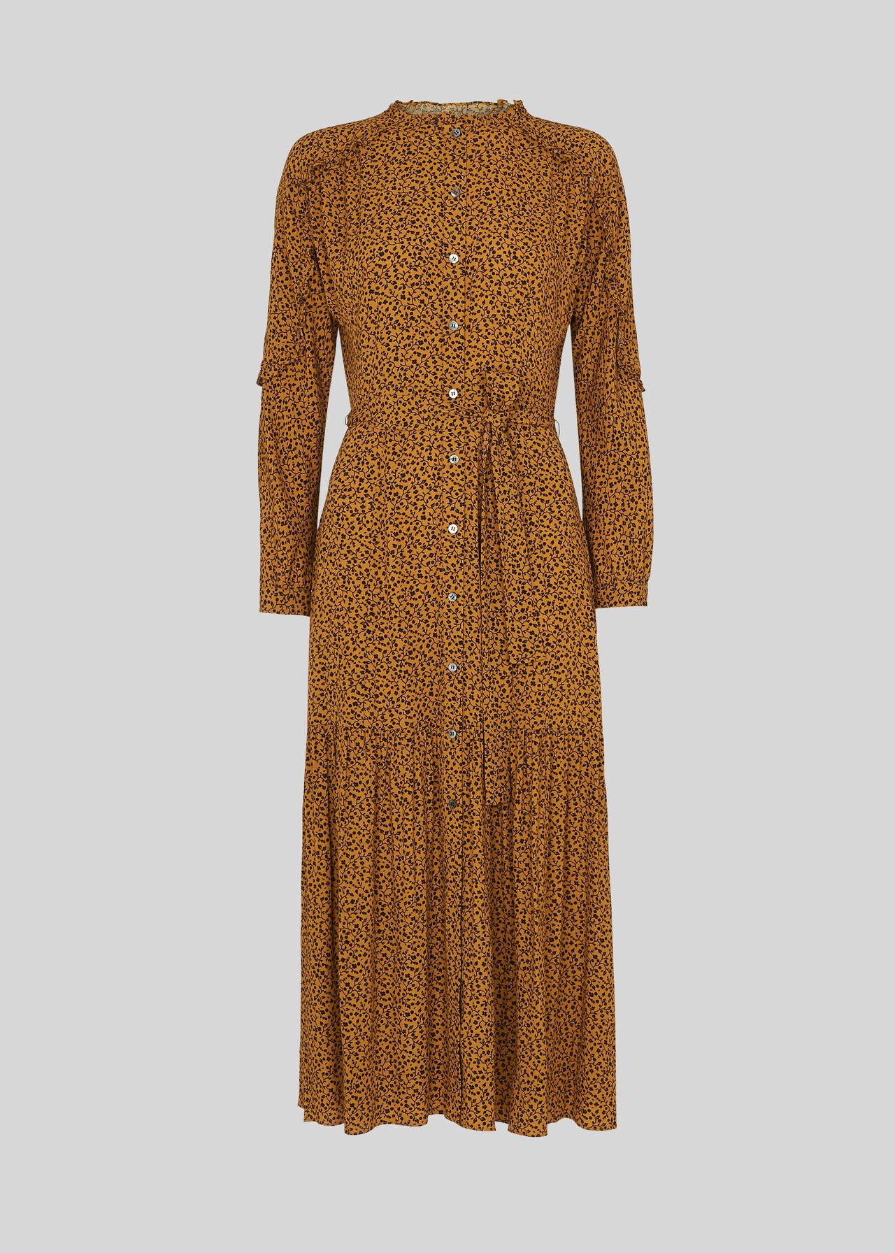 Renee Autumn Floral Dress Yellow/Multi
