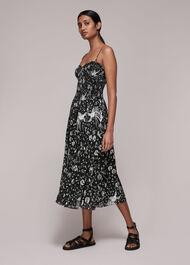 Amelie Bird Silk Mix Dress