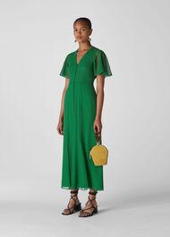 Cecily Check Dress Green/Multi