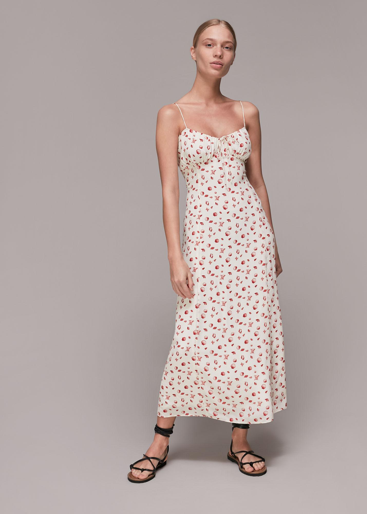 Whistles Women Sea Shell Silk Slip Dress