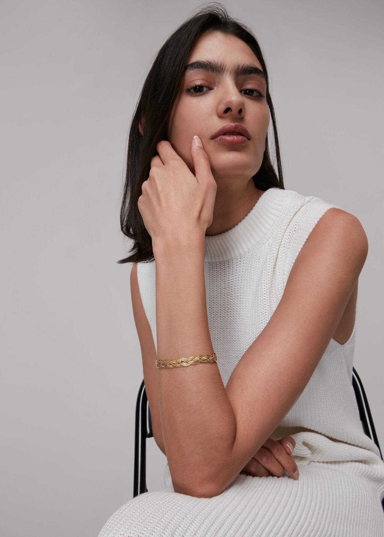 Plaited Chain Bracelet