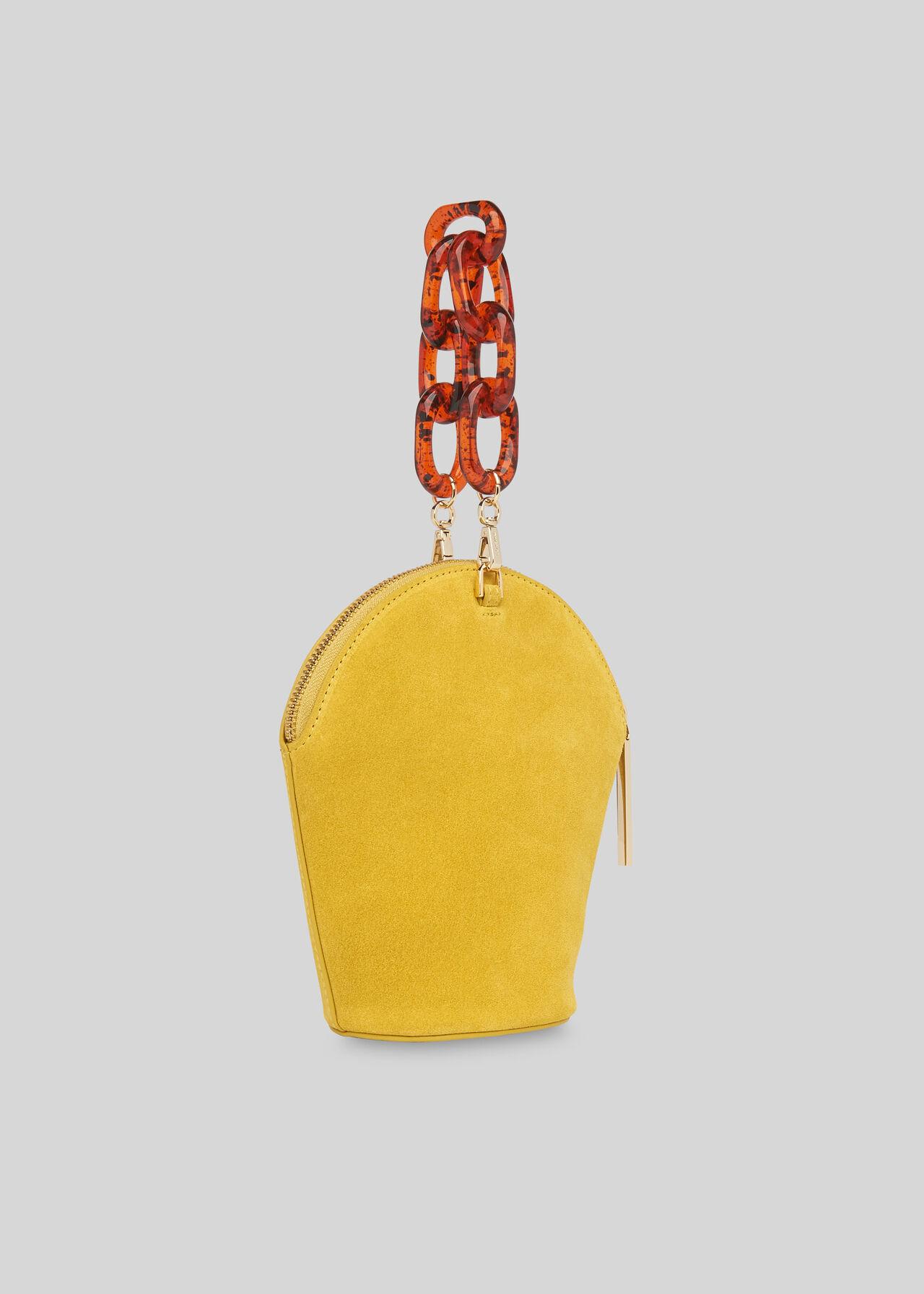 Resin Chain Leonard Wristlet Yellow