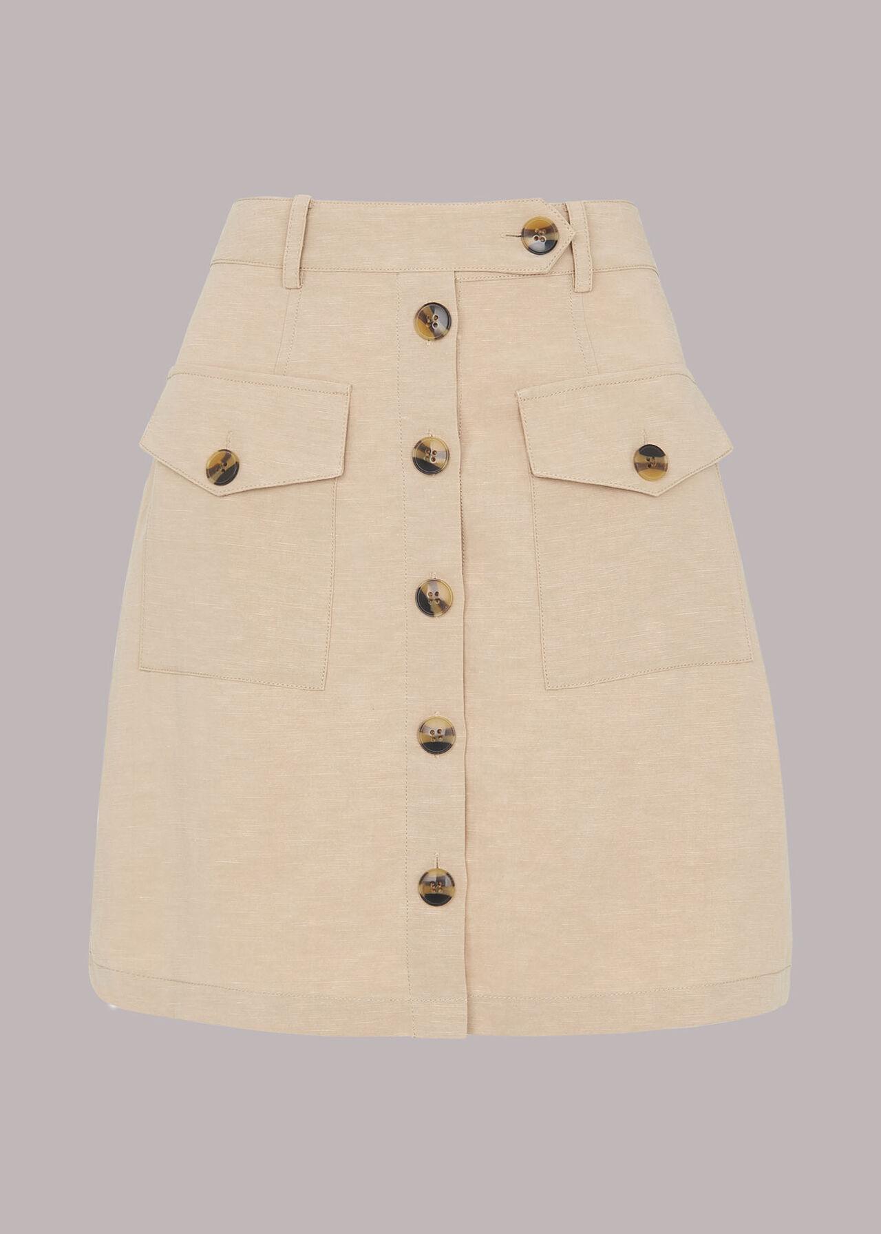 Linen Pocket Skirt