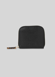 Murray Resin Zip Wallet Black