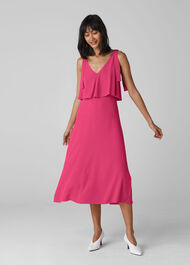 Romina Tie Detail Dress Raspberry