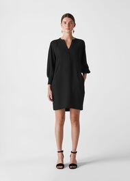 Zeta Rib Cuff Dress Black