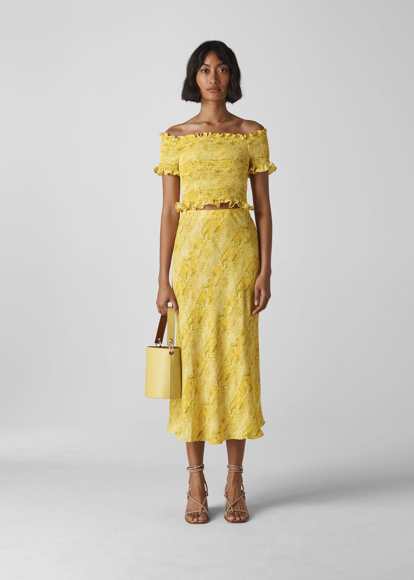 Python Print Bias Cut Skirt