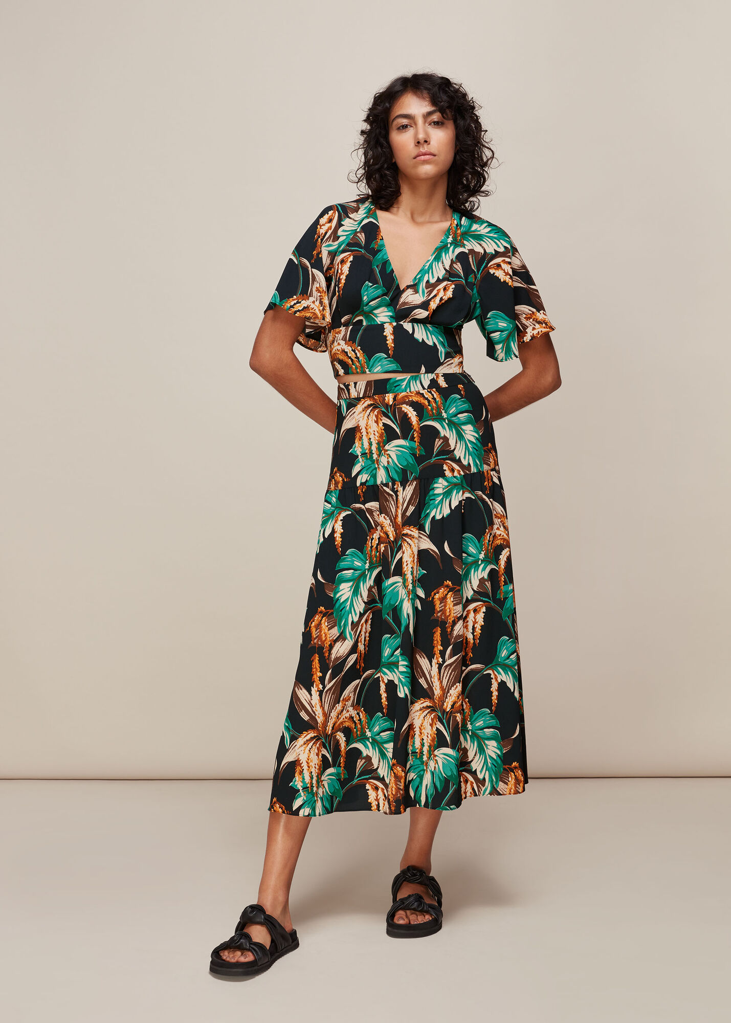 Tropical Floral Samira Skirt