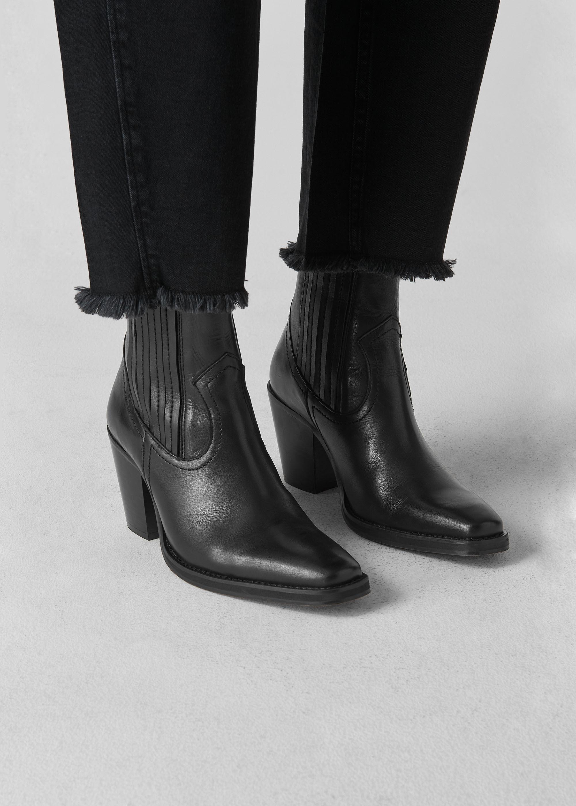 Black Allington Western Boot | WHISTLES
