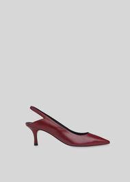 Clare Cutout Slingback Shoe Burgundy