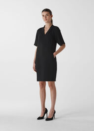Devyn Crepe Dress Black