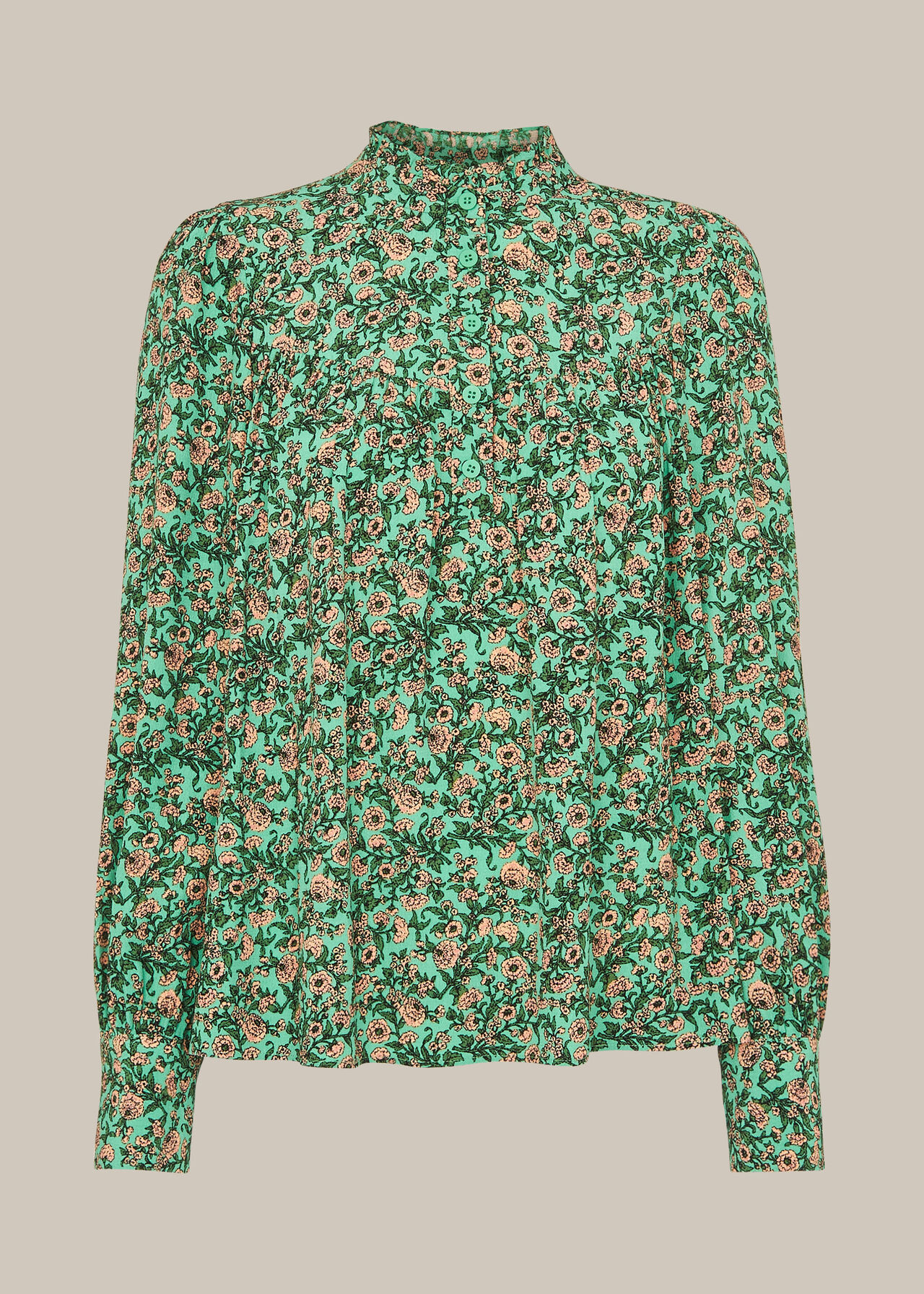 Heath Floral Print Top