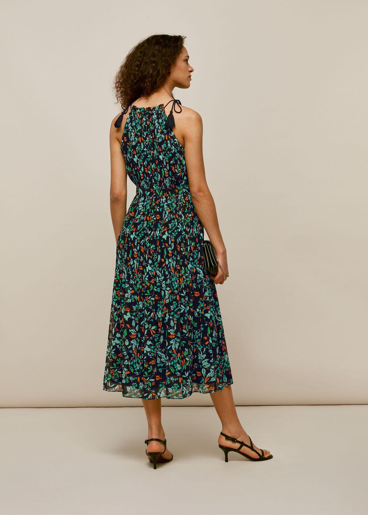 Forest Floral Halter Dress
